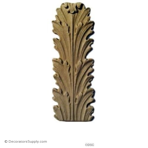 Acanthus 3 7/8 High 1 3/8 Wide-ornaments-furniture-woodwork-Decorators Supply
