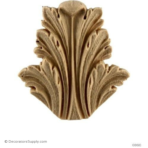 Acanthus-Roman 2H X 1 3/4W - 3/16Relief-ornaments-furniture-woodwork-Decorators Supply