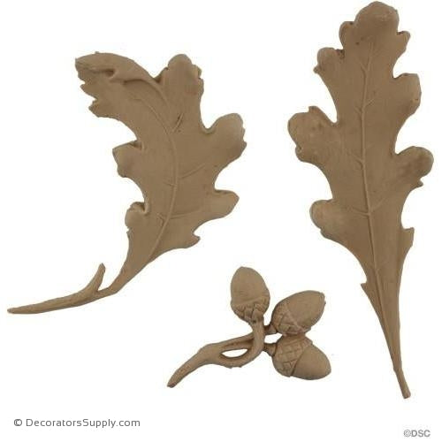 Acorns and Oak Leaves - 6H X 5W - 3/8Relief-ornaments-furniture-woodwork-Decorators Supply