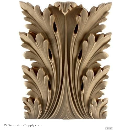 Acanthus-Ital. Ren. 9 3/8H X 7W - 1-1/2Relief-ornaments-furniture-woodwork-Decorators Supply