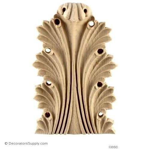 Acanthus-Greek 6H X 3 7/8W - 1-1/4Relief-ornaments-furniture-woodwork-Decorators Supply