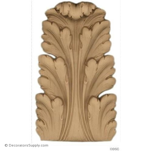 Acanthus-Louis XVI 5 3/8H X 3 1/4W - 3/4-1/2Relief-ornaments-furniture-woodwork-Decorators Supply