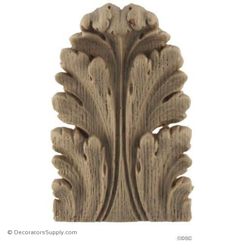 Acanthus-Louis XVI 1 3/4H X 1 1/8W - 1/4-3/16Relief-ornaments-furniture-woodwork-Decorators Supply