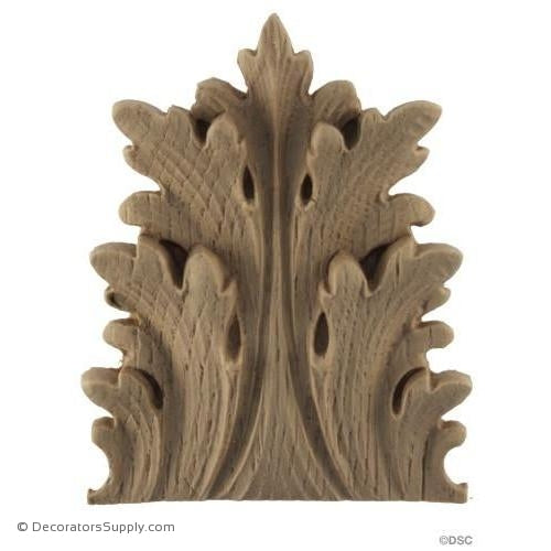 Acanthus-Ital. Ren. 1 1/4H X 1 7/8W - 7/16-3/8Relief-ornaments-furniture-woodwork-Decorators Supply