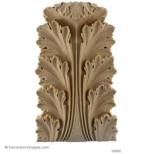 Acanthus-Roman 12H X 7 3/4W - 2 1/8-7/8Relief-ornaments-furniture-woodwork-Decorators Supply