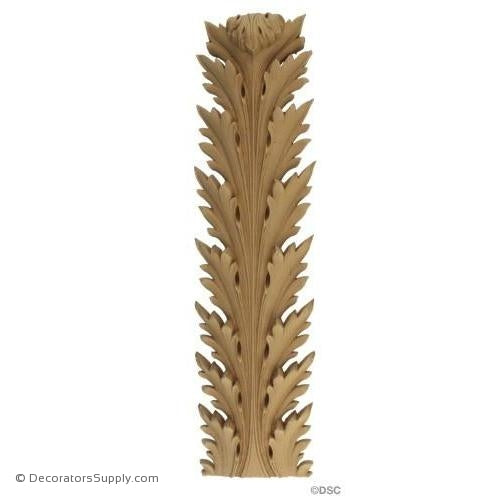 Acanthus-Empire 8H X 2 5/8W - 1 1/2-3/8Relief-ornaments-furniture-woodwork-Decorators Supply