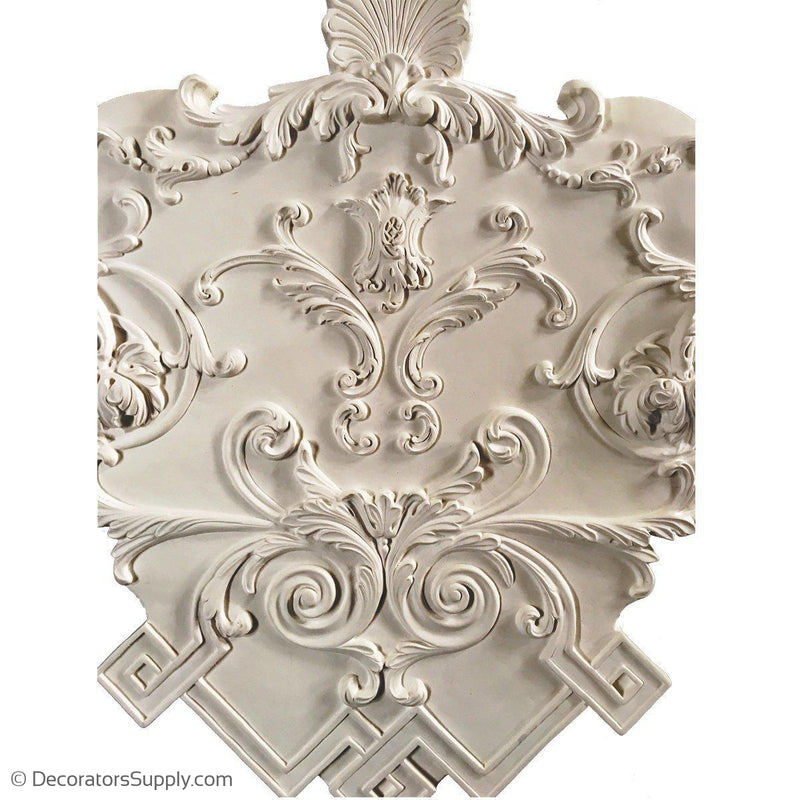 "Plaster Corner Medallion LouisXIV 30"" X 30"" X 32""3/4"" Relief - Modified Version"