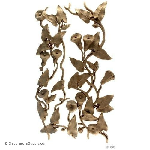Floral-French 21 1/2H X 12W - 1/2Relief-ornaments-furniture-woodwork-Decorators Supply