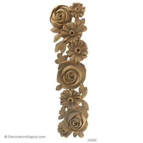 Floral-French 24H X 6 1/4W - 3/4Relief-ornaments-furniture-woodwork-Decorators Supply