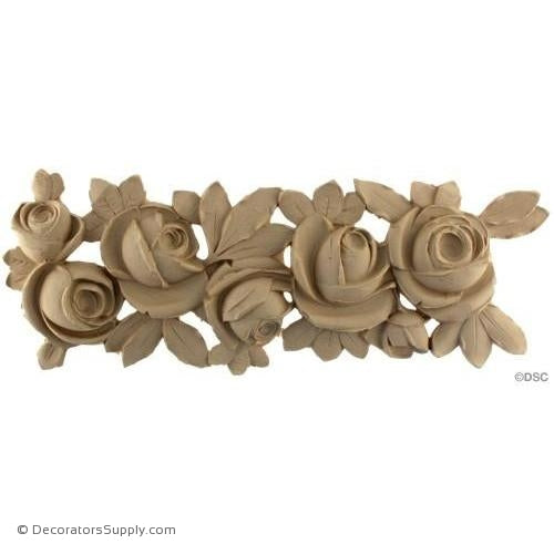 Floral-French 6 1/2H X 18W - 1/2Relief-ornaments-furniture-woodwork-Decorators Supply