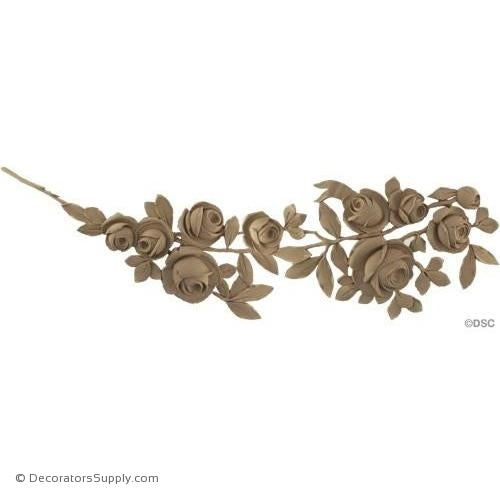 Roses-French 9 1/2H X 30W - 9/16Relief-ornaments-furniture-woodwork-Decorators Supply