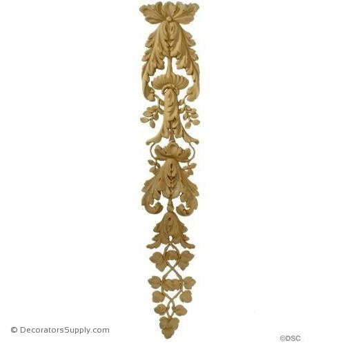 Floral-Louis XVI 32 3/4H X 6 1/2W - 1/2Relief-vertical-design-woodwork-furniture-Decorators Supply