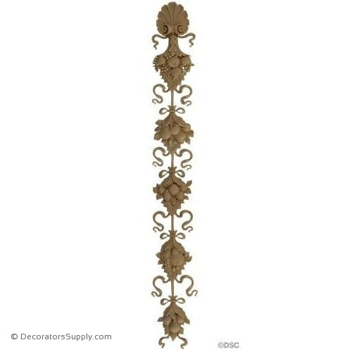 Floral-Louis XVI 35H X 4 1/2W - 1/2Relief-vertical-design-woodwork-furniture-Decorators Supply