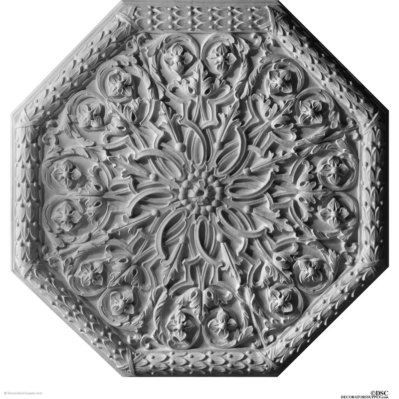"Plaster Medallion-German-36"" Diameter X 1 5/8"" Relief-ceiling-ornament-Decorators Supply"