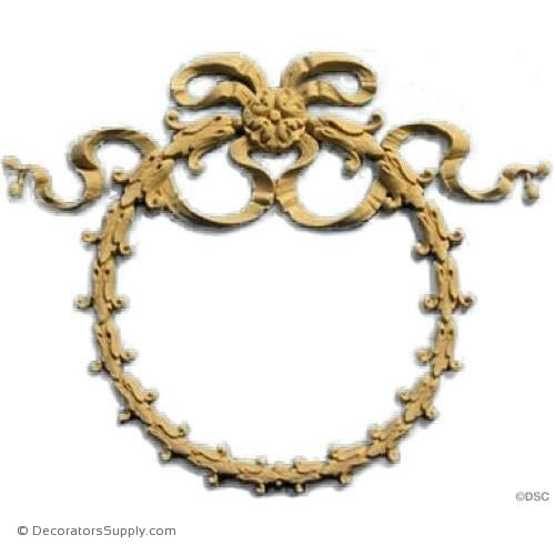 Wreath-Empire 8 1/2H X 10 1/2W - 9/16Relief-ornaments-for-woodwork-furniture-Decorators Supply