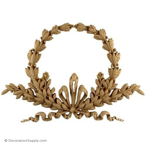 Wreath-Louis XVI 7 1/4H X 10 1/2W - 1/2Relief-ornaments-for-woodwork-furniture-Decorators Supply