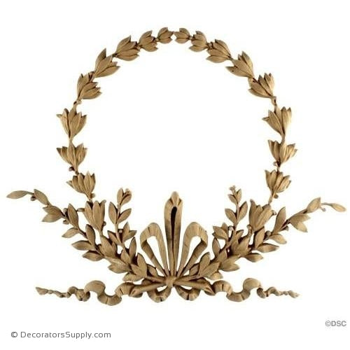 Wreath-Louis XVI 11 1/2H X 16W - 5/8Relief-ornaments-for-woodwork-furniture-Decorators Supply