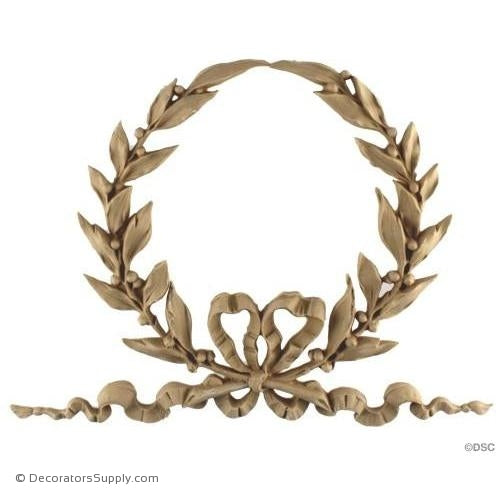 Wreath-Louis XVI 8 1/4H X 11 1/2W - 9/16Relief-ornaments-for-woodwork-furniture-Decorators Supply