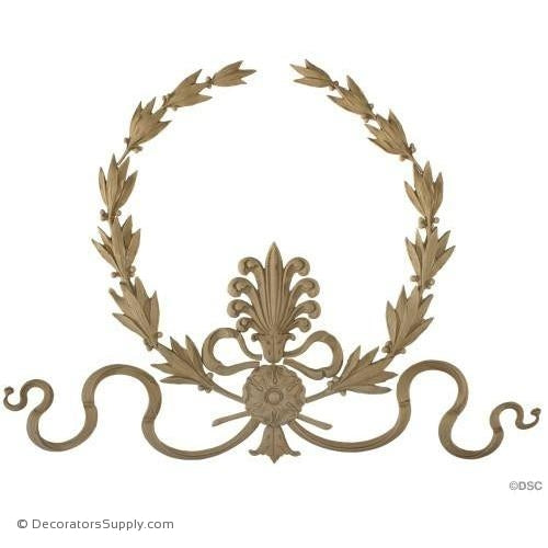 Wreath-Empire 15 1/2H X 20 3/4W - 5/8Relief-ornaments-for-woodwork-furniture-Decorators Supply