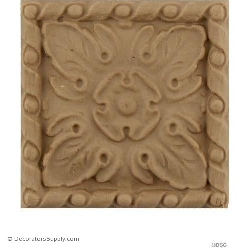 Square Rosette - 2 1/4 in. width-ornaments-for-woodwork-furniture-Decorators Supply