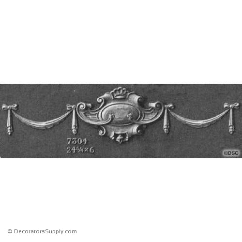 Swag-French Ren. 6H X 24 3/4W - 5/8Relief-applique-onlay-for-furniture-woodwork-Decorators Supply