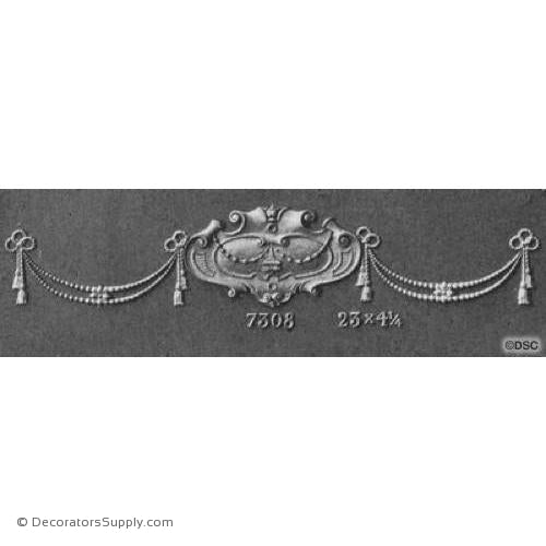 Swag-French Ren. 4 1/4H X 23W - 3/8Relief-applique-onlay-for-furniture-woodwork-Decorators Supply