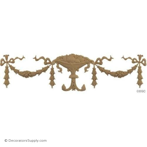 Swag-Louis XVI 6H X 24W - 3/16Relief-applique-onlay-for-furniture-woodwork-Decorators Supply