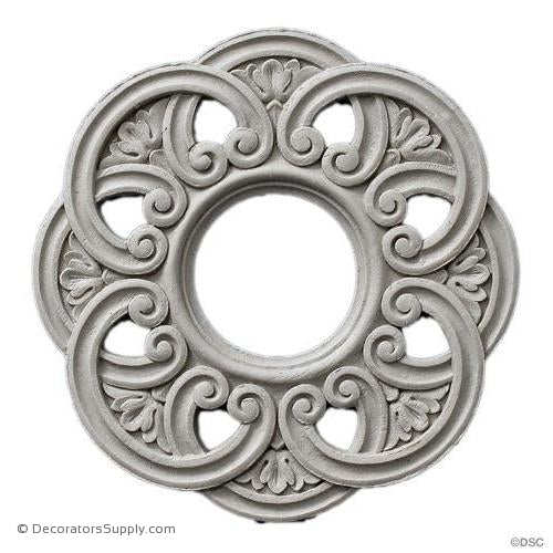 Rosette - Circle 5 1/2 Diameter-woodwork-furniture-ornaments-Decorators Supply