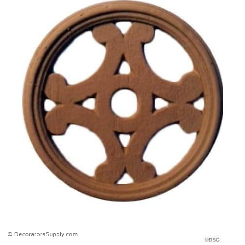 Rosette - Circle-woodwork-furniture-ornaments-Decorators Supply