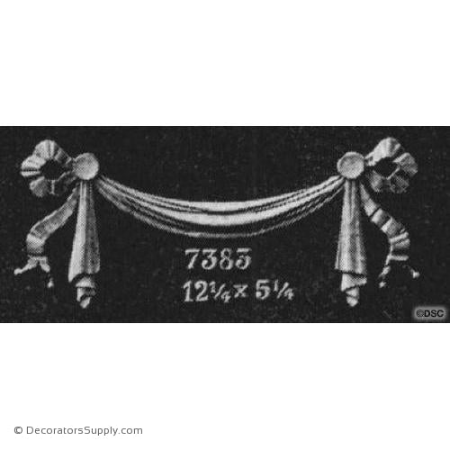 Swag-Colonial 5 1/4H X 12 1/4W - 3/8Relief-applique-onlay-for-furniture-woodwork-Decorators Supply