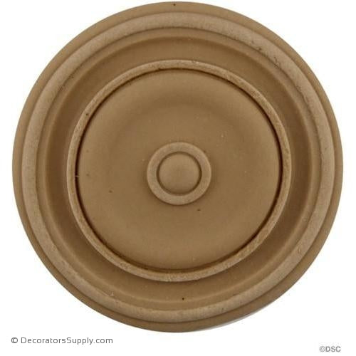 Rosette - Circle 3 Diameter-woodwork-furniture-ornaments-Decorators Supply