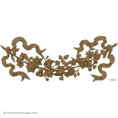 Swag-Ital. Ren. 6 3/4H X 16W - 1/2Relief-applique-onlay-for-furniture-woodwork-Decorators Supply