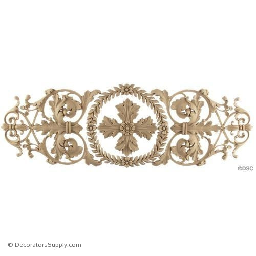 Renaissance Acanthus Scrolls 17 3/4W X 5 3/4H - 1/4Relief-ornaments-for-woodwork-furniture-Decorators Supply
