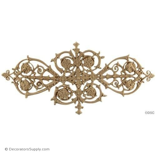 Empire Vine Scroll Design 16W X 8H - 3/16Relief-ornaments-for-woodwork-furniture-Decorators Supply