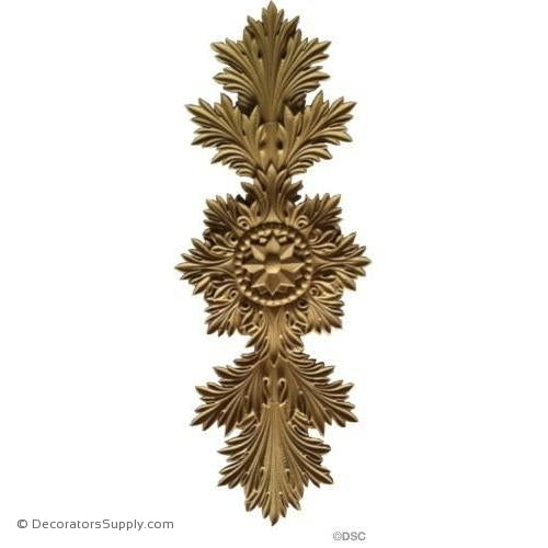 Romanesque Acanthus Design 13W X 5H - 3/16Relief-ornaments-for-woodwork-furniture-Decorators Supply