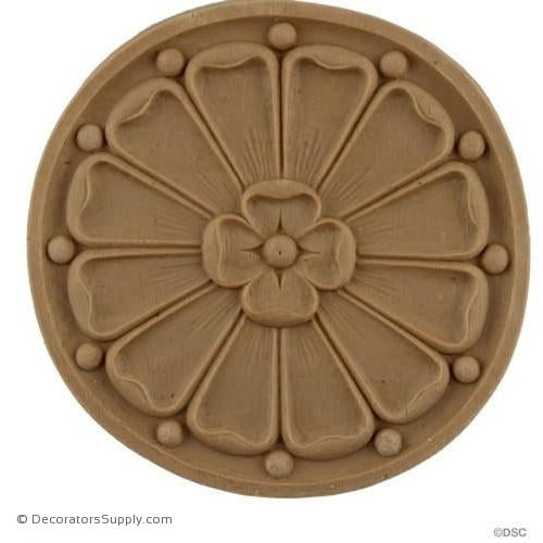 Circular Rosette - 4 1/16 diameter-woodwork-furniture-ornaments-Decorators Supply