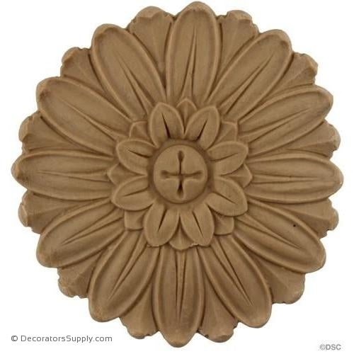 Rosette - Circle 4 1/2 Diameter-woodwork-furniture-ornaments-Decorators Supply