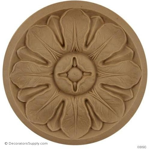Rosette - Circle 4 5/8 Diameter-woodwork-furniture-ornaments-Decorators Supply
