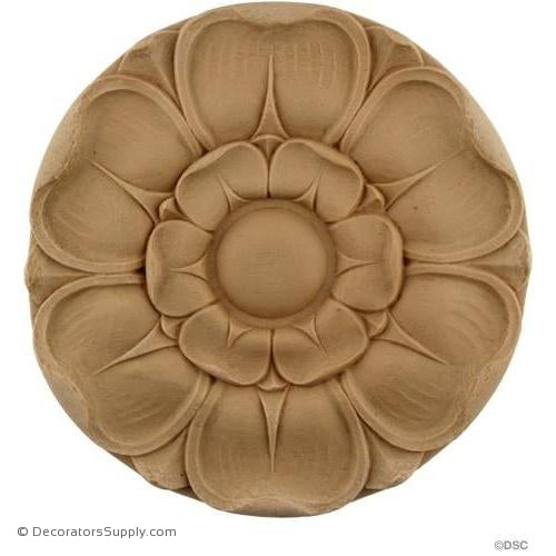 Rosette - Circle 5 5/8 Diameter-woodwork-furniture-ornaments-Decorators Supply