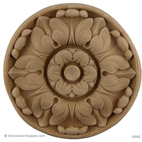 Rosette - Circle 5 Diameter-woodwork-furniture-ornaments-Decorators Supply