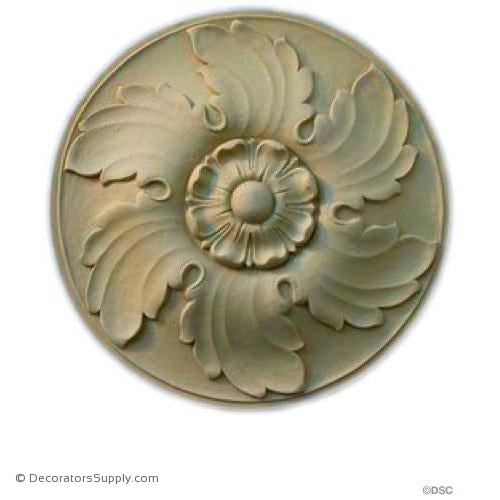 "Rosette - Circle - 10 Diameter - 1"" Relief-woodwork-furniture-ornaments-Decorators Supply"
