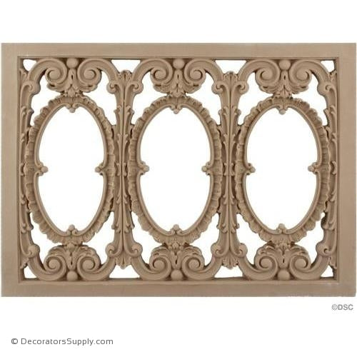 Grille Horizontal Design 14 High 10 1/2 Wide-ornaments-for-woodwork-furniture-Decorators Supply