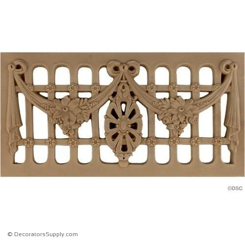 Grille Horizontal Design 13 High 6 3/4 Wide-ornaments-for-woodwork-furniture-Decorators Supply