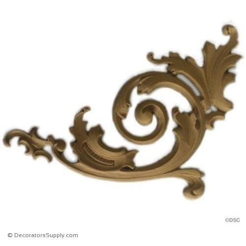 Spandrels - Louis XV 5 7/8H X 5W - 1/4Relief-ornaments-for-furniture-wooodwork-Decorators Supply