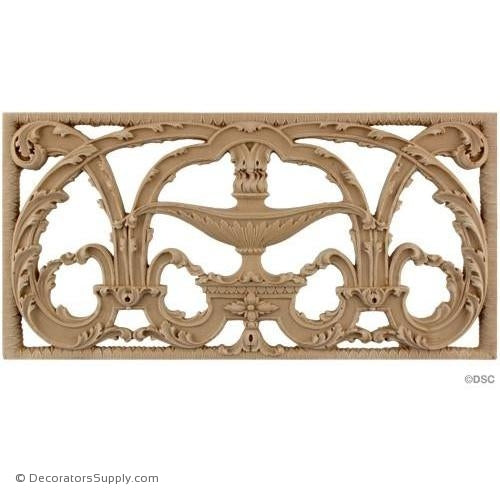 Grille Horizontal Design 14 1/8 High 7 1/2 Wide-ornaments-for-woodwork-furniture-Decorators Supply