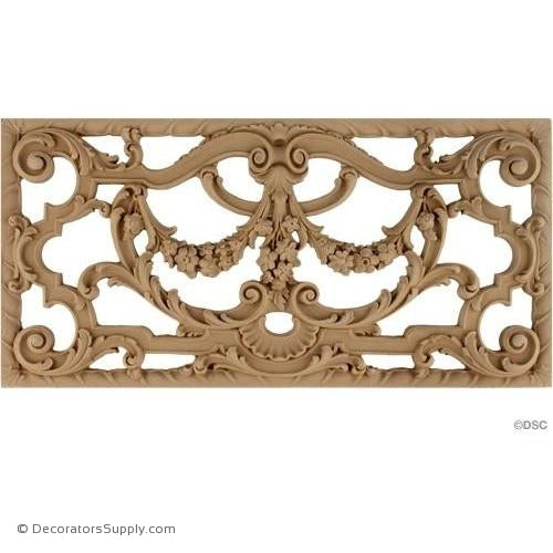 Grille Horizontal Design 15 1/8 High 7 1/2 Wide-ornaments-for-woodwork-furniture-Decorators Supply