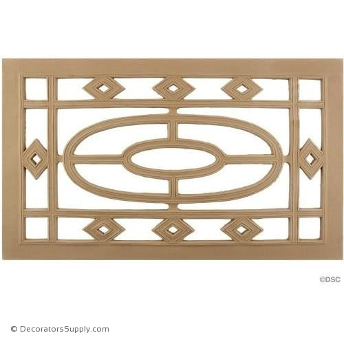 Grille Horizontal Design 18 High 11 1/8 Wide-ornaments-for-woodwork-furniture-Decorators Supply