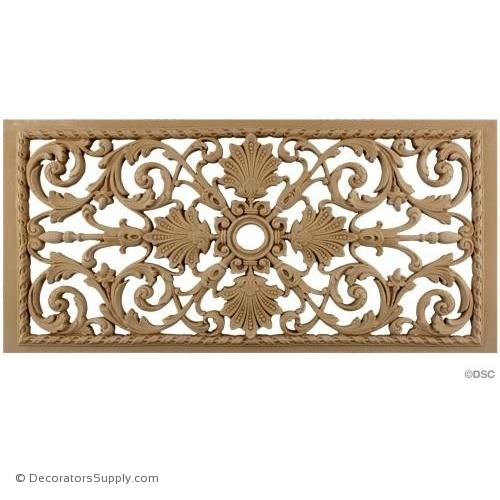 "Grille - 20 "" W x 10"" H-ornaments-for-woodwork-furniture-Decorators Supply"