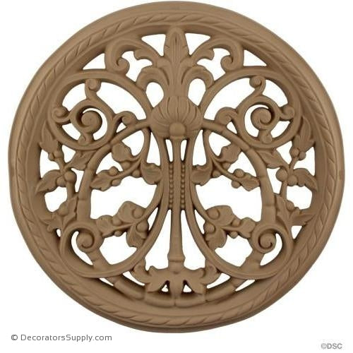 "Specialty Grille 12 7/8 Diameter 9/16"" Relief-woodwork-furniture-ornaments-Decorators Supply"
