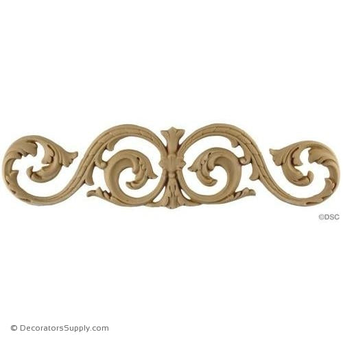 Scroll Design -Ren. 3 5/8H X 14 5/8W - 1/4Relief-ornaments-for-woodwork-furniture-Decorators Supply